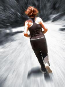 laufen mit Laufschuhe